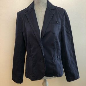 George by Mark Eisen Navy Blue Khaki Blazer